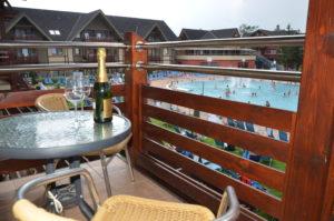 apartmán AQUAPARK - výhled z balkonu